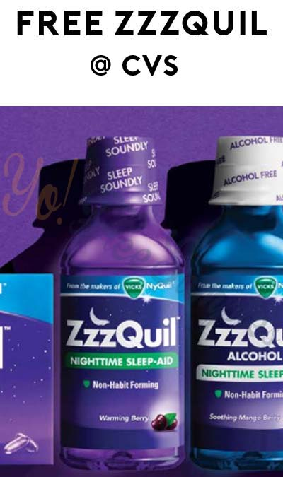 FREE ZzzQuil Sleep-Aid at CVS (Coupon & Rebate Required)