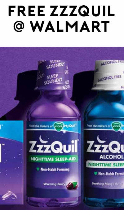 FREE ZzzQuil Bottle From Walmart (Coupon & Rebate Required)