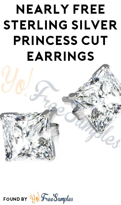 DEAL ALERT: 100% OFF Sterling Silver Princess Cut Earrings ($4.99 Shipping Required)