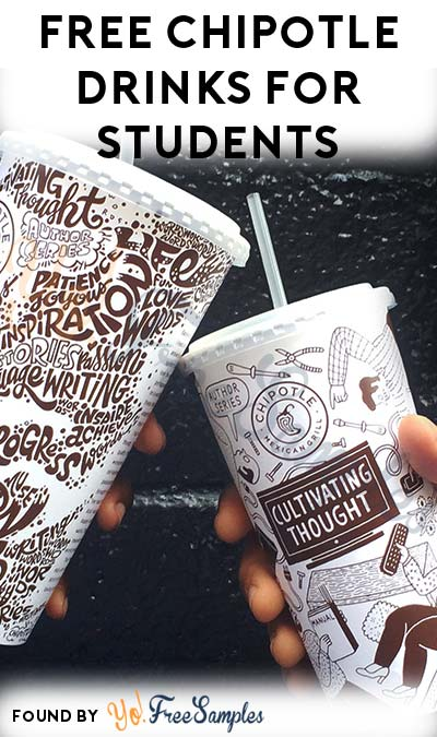 FREE Chipotle Drink For Students With Purchase For Entire Month Of September