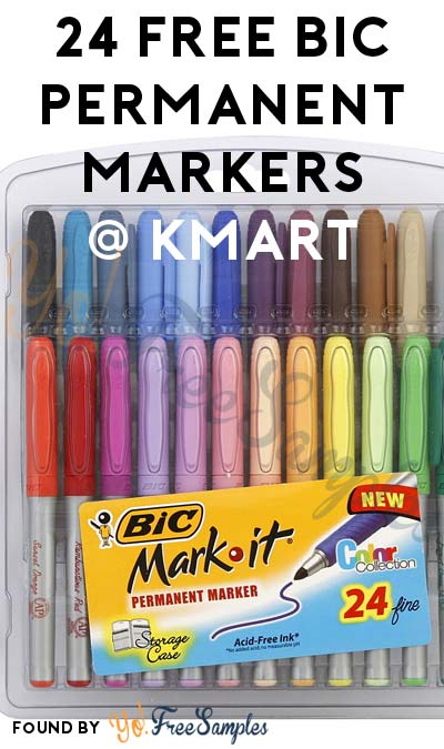 24 FREE BIC Permanent Markers After In-Store Pick Up & Kmart Cashback