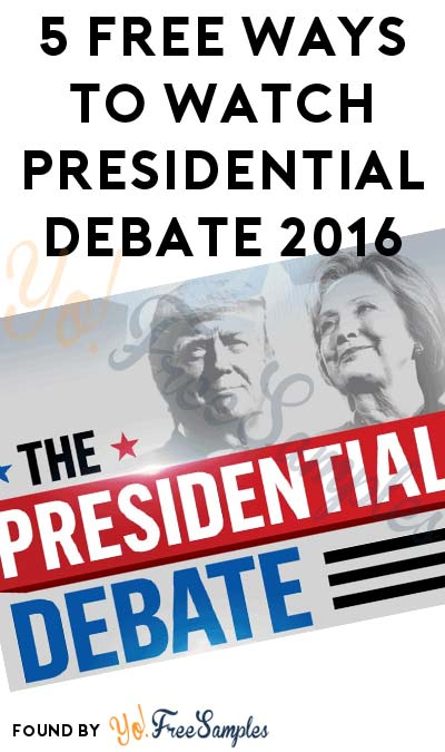 5 FREE Ways To Watch September Presidential Debate 2016