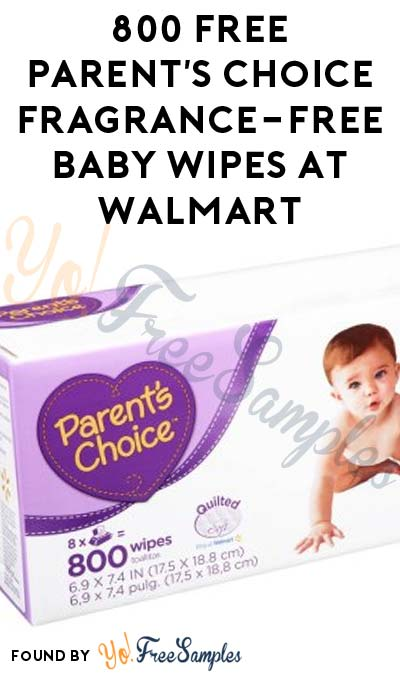 ENDS TODAY: 800 FREE Parent's Choice Fragrance-Free Baby Wipes At Walmart After Cashback (New TopCashBack Members Only)