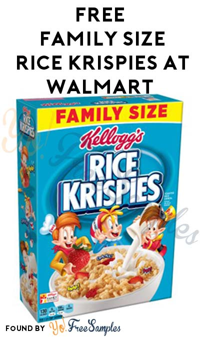 FREE Family-Size Kellogg's Rice Krispies At Walmart After Cashback (New & Existing TopCashBack Members)