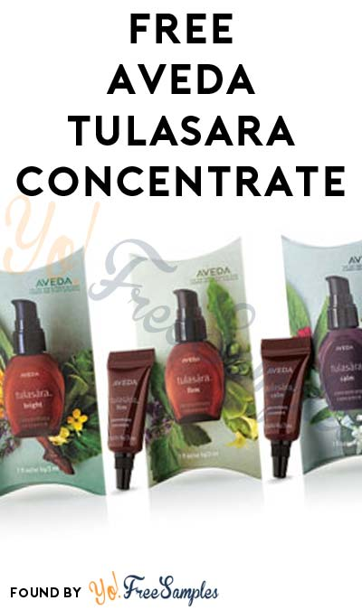 FREE 3ml Aveda Tulasara Concentrate With $30 Purchase
