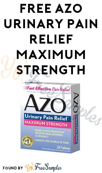 FREE AZO Urinary Pain Relief Maximum Strength
