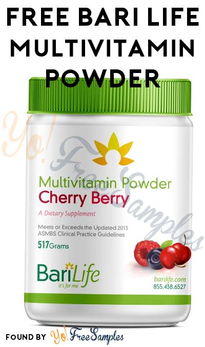 FREE Bari Life Multivitamin Powder (Email Required)