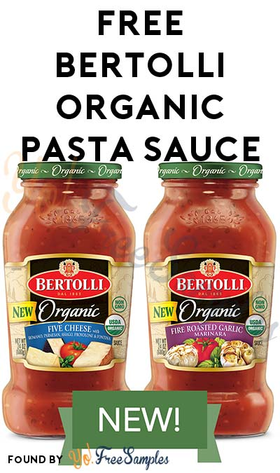 FREE Bertolli Organic Pasta Sauce (Mom Ambassador Membership Required)
