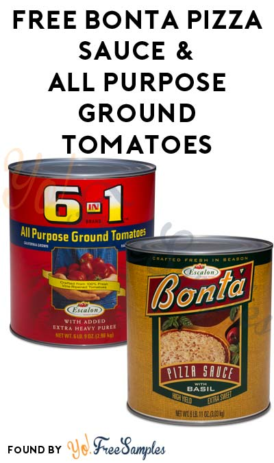 FREE Bonta Pizza Sauce & All Purpose Ground Tomatoes (Food Service Only)