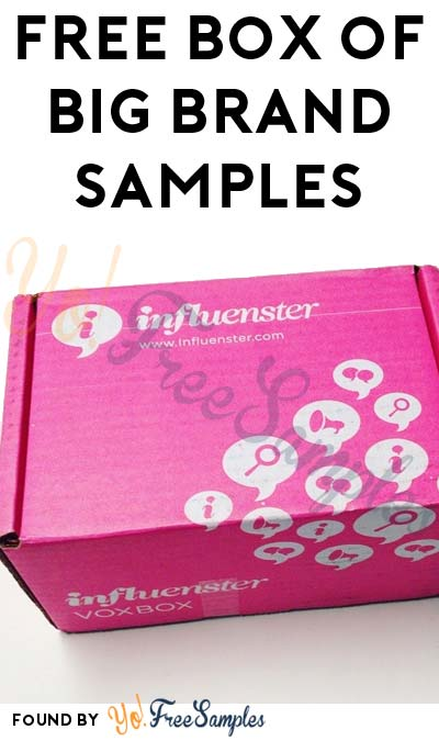 FREE Box Of Big Brand Samples From Influenster's VoxBox Program [Verified Received By Mail]