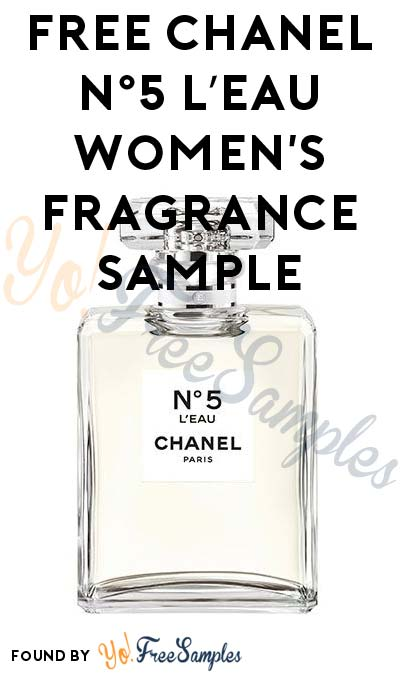 FREE CHANEL N°5 L'EAU Women's Fragrance Sample (Facebook Required)