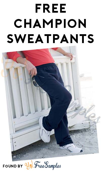 FREE Champion Open-Bottom Sweatpants Sample (Company Name Required)