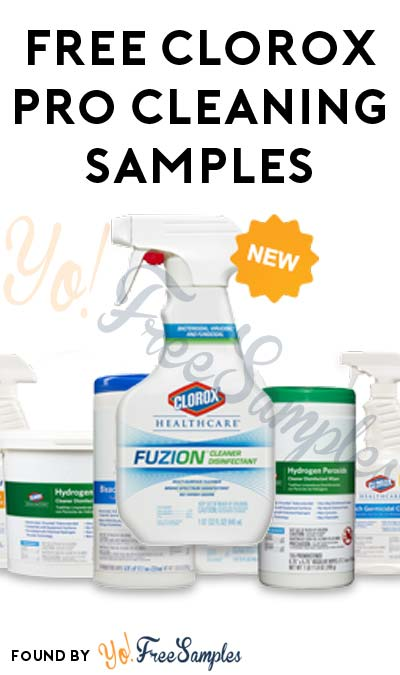FREE Clorox Healthcare Disinfectant, Deodorizer Wipes, Sprays & More (Company Name Required)