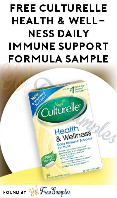 FREE Culturelle Health & Wellness Daily Immune Support Formula Sample