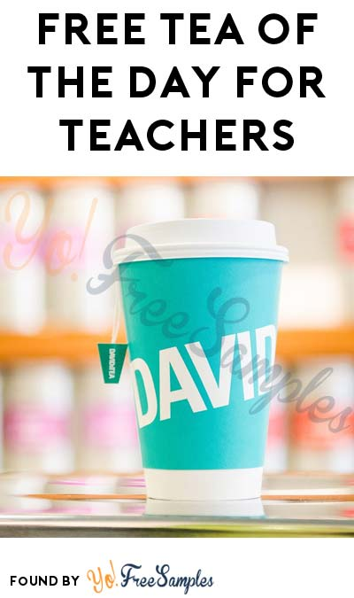 FREE DAVIDsTEA Tea Of The Day For Teachers Until September 18th