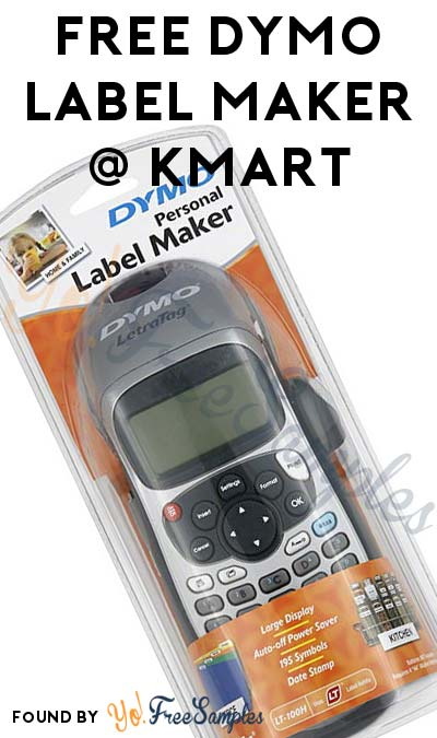 FREE Dymo Label Maker After In-Store Pick Up & Kmart Cashback