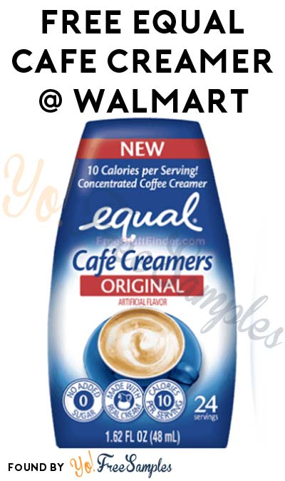 FREE Equal Café Creamer At Walmart (Ibotta Required)
