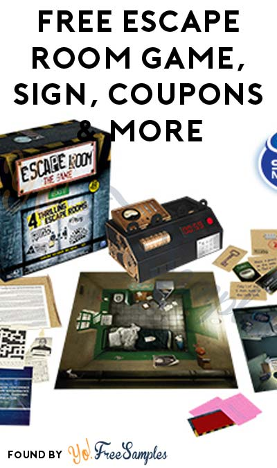 FREE Escape Room Game, Sign, Coupons & More (Apply To Host Party)