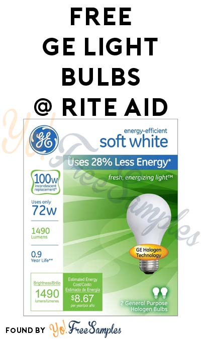 New Coupon: FREE GE Light Bulbs At Rite Aid (Coupon Required)