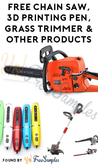 New Items Added: FREE Gasoline Chain Saw, Handheld Sweeper, 3D Printing Pen, Grass Trimmer & Other Products From East Machinery (Company Name Required)