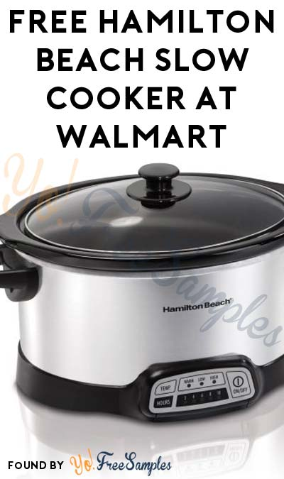 TODAY ONLY: FREE Hamilton Beach Slow Cooker At Walmart After Cashback (New TopCashBack Members Only)