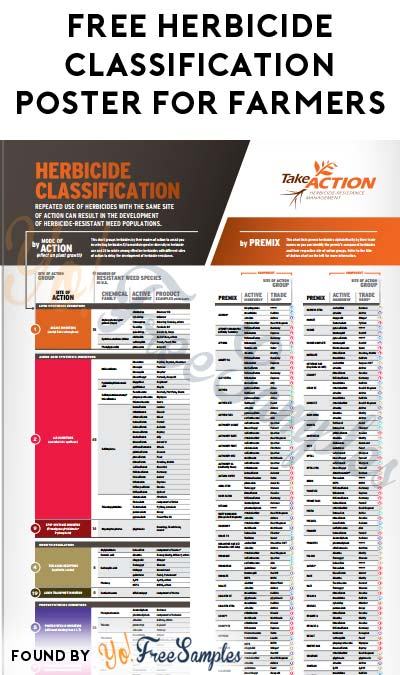 FREE Herbicide Classification Poster For Farmers