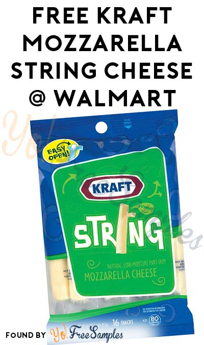 Back Yet Again: 3 FREE Kraft Mozzarella String Cheese Sticks From Walmart (Coupon Required)