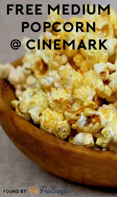 TODAY ONLY: FREE Medium Popcorn At Cinemark On 10/21 For Downloading Mobile App