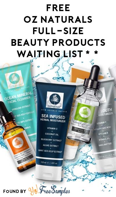 FREE or Nearly FREE Oz Naturals Full-Size Beauty Products Waiting List (Amazon Review Required)
