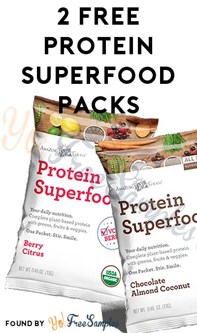 Back In Stock: FREE Protein Superfood Chocolate Almond Coconut and Berry Citrus Trial Packs [Verified Received By Mail]