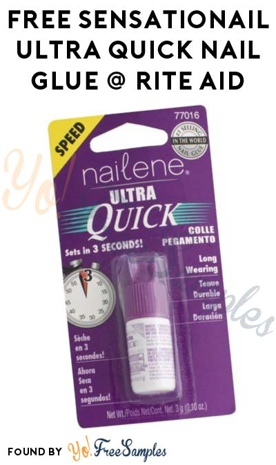 ENDS TOMORROW: FREE SensatioNail Ultra Quick Nail Glue at Rite Aid