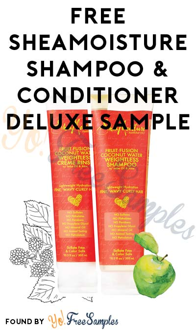 Free Sheamoisture Shampoo  Conditioner Deluxe Sample Verified