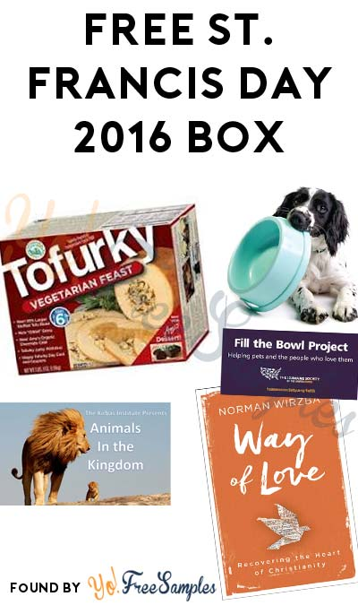 FREE St. Francis Day 2016 Box From Humane Society