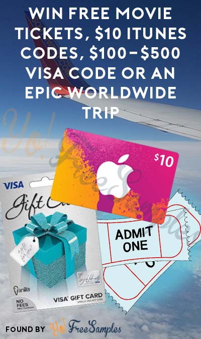 Enter Daily: Win FREE Movie Tickets, $10 iTunes Codes, $100-$500 Visa Code Or An Epic Worldwide Trip From Parliament
