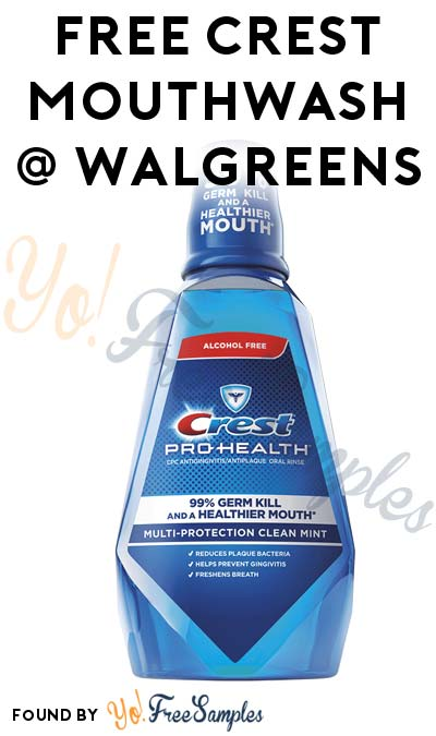 2 FREE Crest 1L Mouthwashes At Walgreens (Coupon Required)