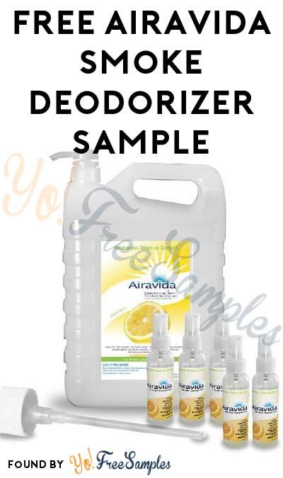 FREE Airavida Smoke Deodorizer Sample (Select Companies Only)
