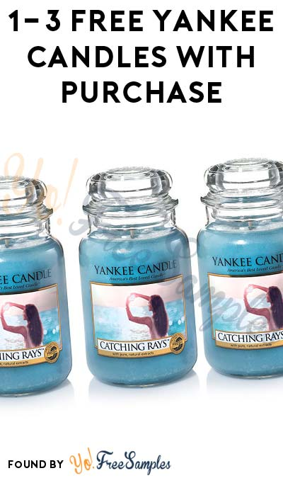 1-3 FREE Yankee Candles With Purchase Of 1-3 Candles Coupon