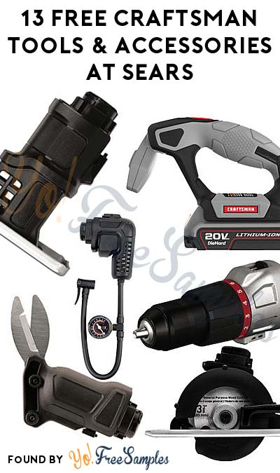 13 FREE Craftsman Bolt-On Tools and Accessories At Sears After Cashback