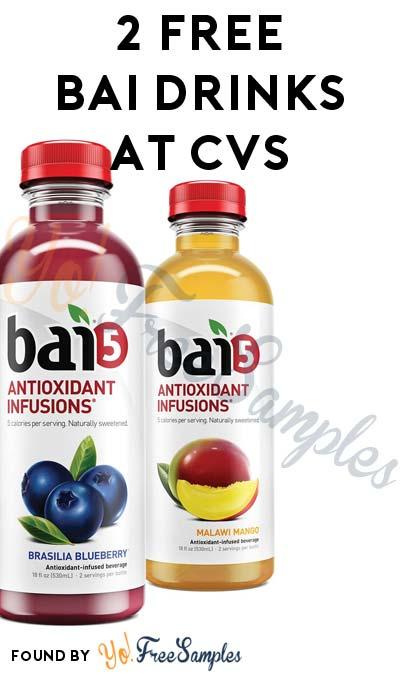2 FREE Bai Drinks At CVS