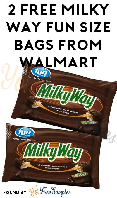 TODAY ONLY: 2 FREE Milky Way Fun Size Bags From Walmart At Walmart After Cashback (New TopCashBack Members Only)