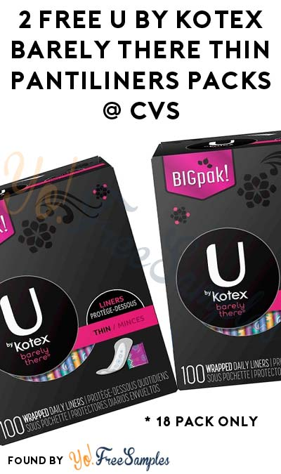 2 FREE U by Kotex Barely There Thin Pantiliners Packs At CVS (Ibotta Required)