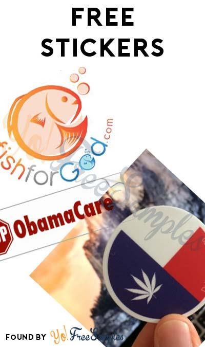 3 FREE Stickers Today: Fish For God Sticker, Stop Obama Care Bumper Sticker & Dallas Cannabis Sticker