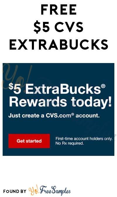 FREE $5 ExtraBucks At CVS For Creating New Account