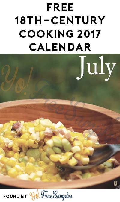 FREE 18th-Century Cooking 2017 Calendar From Jas. Townsend & Son
