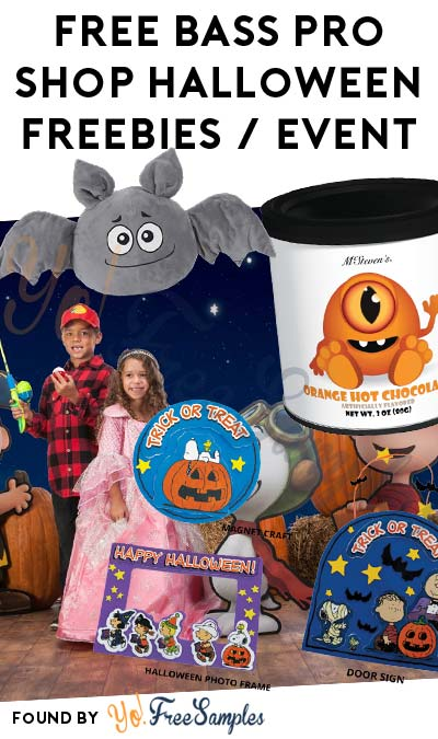 ENDS TODAY: FREE Bass Pro Shop Photo Print, Crafts, Plushes & Hot Chocolate Samples For Halloween Events 10/24-10/31