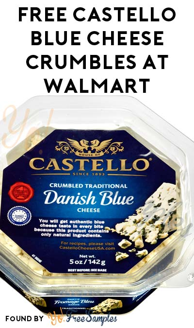 $3 Cashback Added: FREE Castello Blue Cheese Crumbles 5 oz At Walmart (Coupon Required)