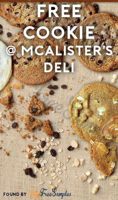 graphic regarding Mcalister's Coupons Printable named Absolutely free Cookie At McAlisters Deli For Signing up for Publication - Yo