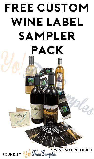 FREE Custom Wine Label Sampler Pack