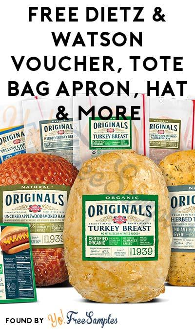 FREE Dietz & Watson Voucher, Tote Bag Apron, Hat & More (Mom Ambassador Membership Required)