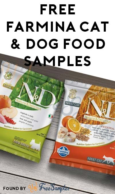 FREE Farmina Cat & Dog Food Samples (Short Pet Survey Required)
